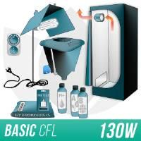 Kit Indoor Idroponica CFL 130W + Grow Box Allestita